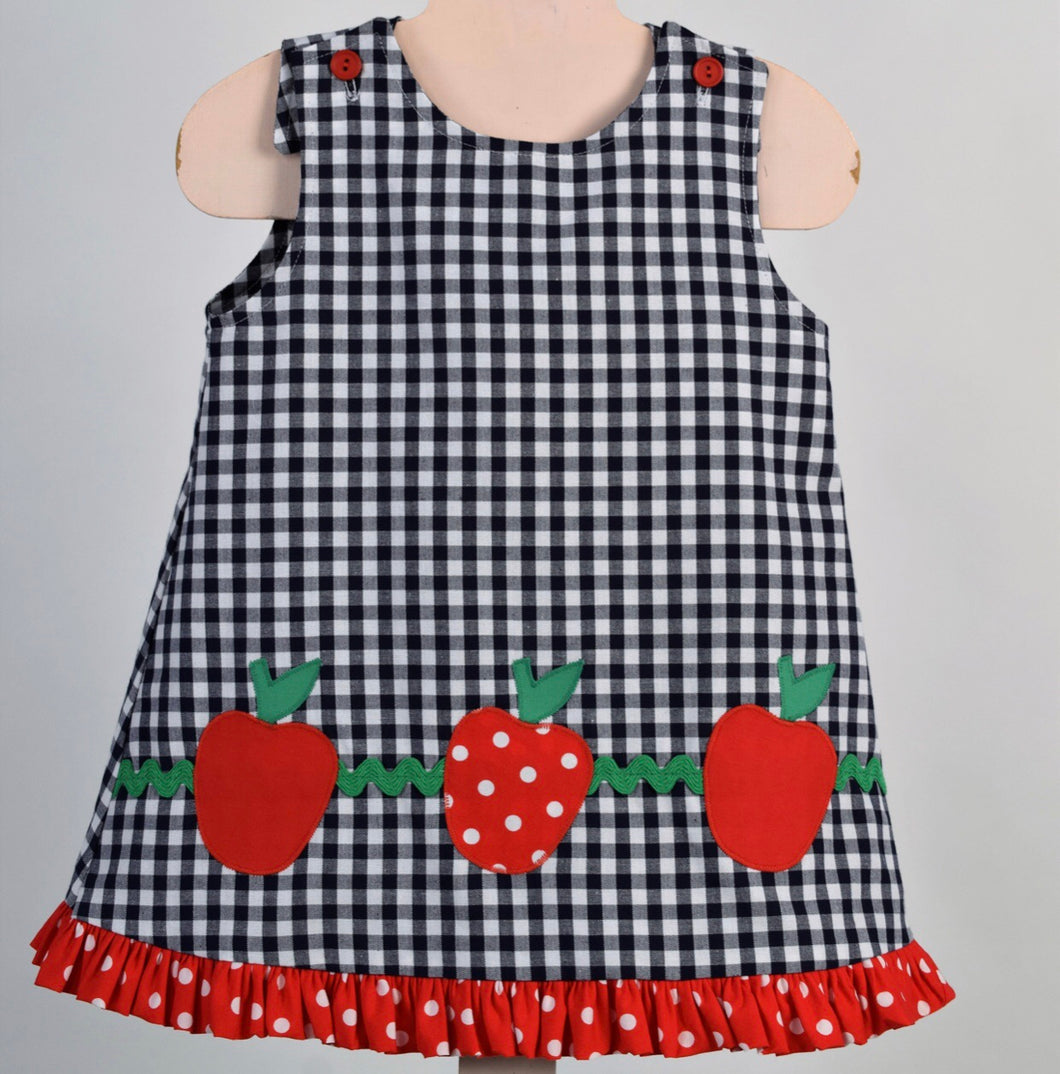 Apples/Ladybugs Reversible Jumper