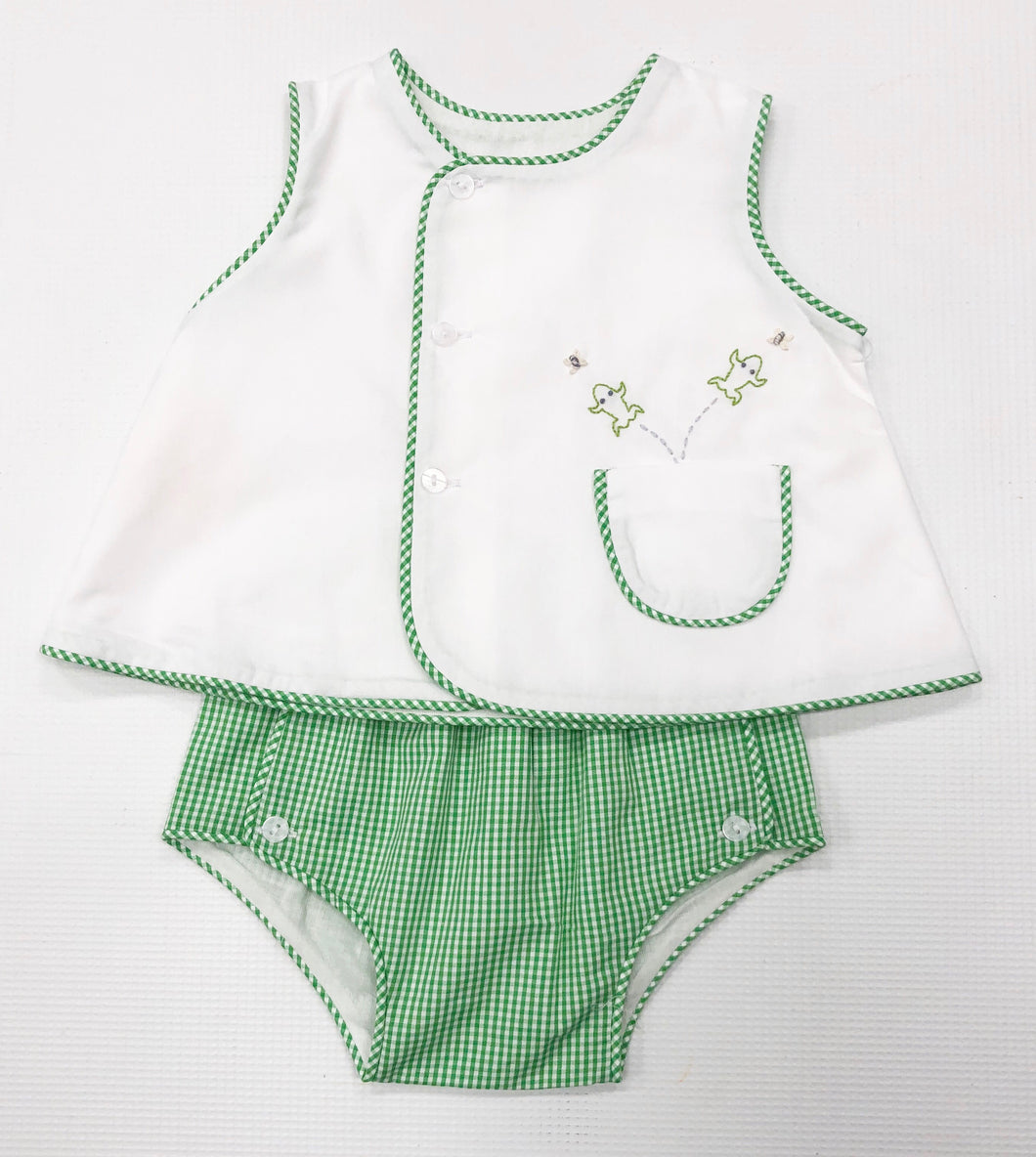 Green Frog Diaper Set