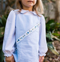 Blue Jumper Set w Diagonal Flower Ribbon