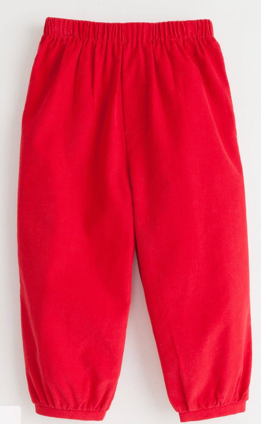 Banded Pull On Pant - Red