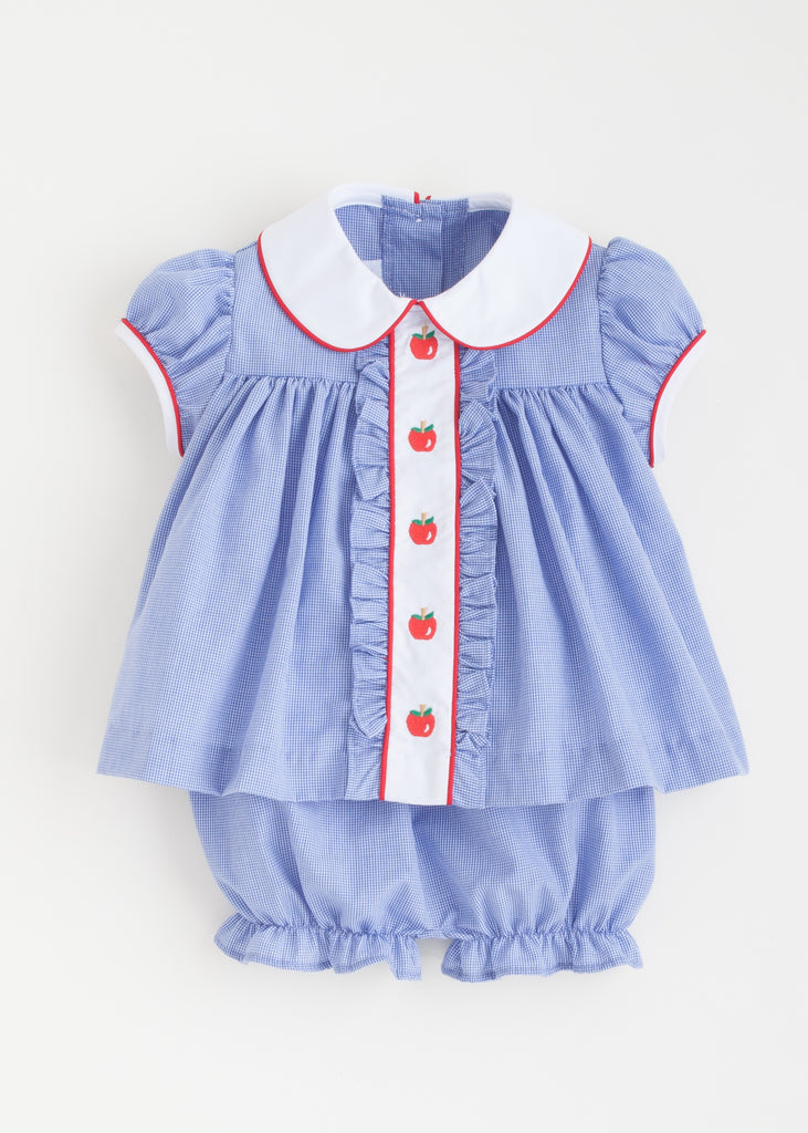 Apple Ruffle Sally Bloomer Set
