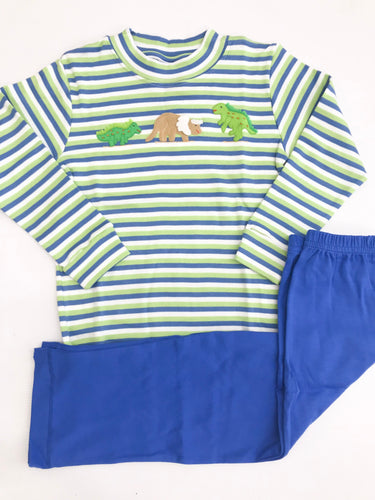 Dinosaur Stripe Pant Set