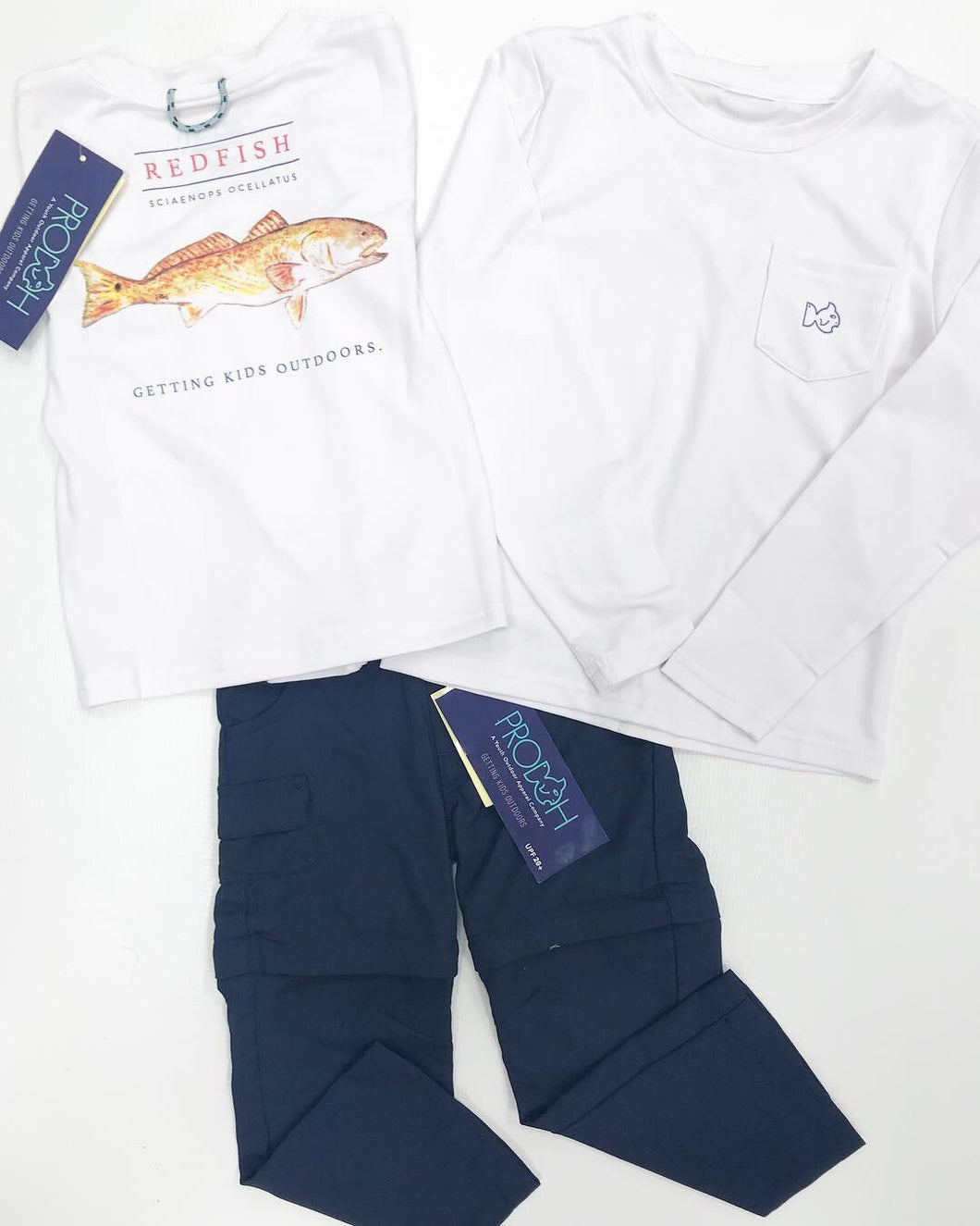 White Redfish Performance Tee