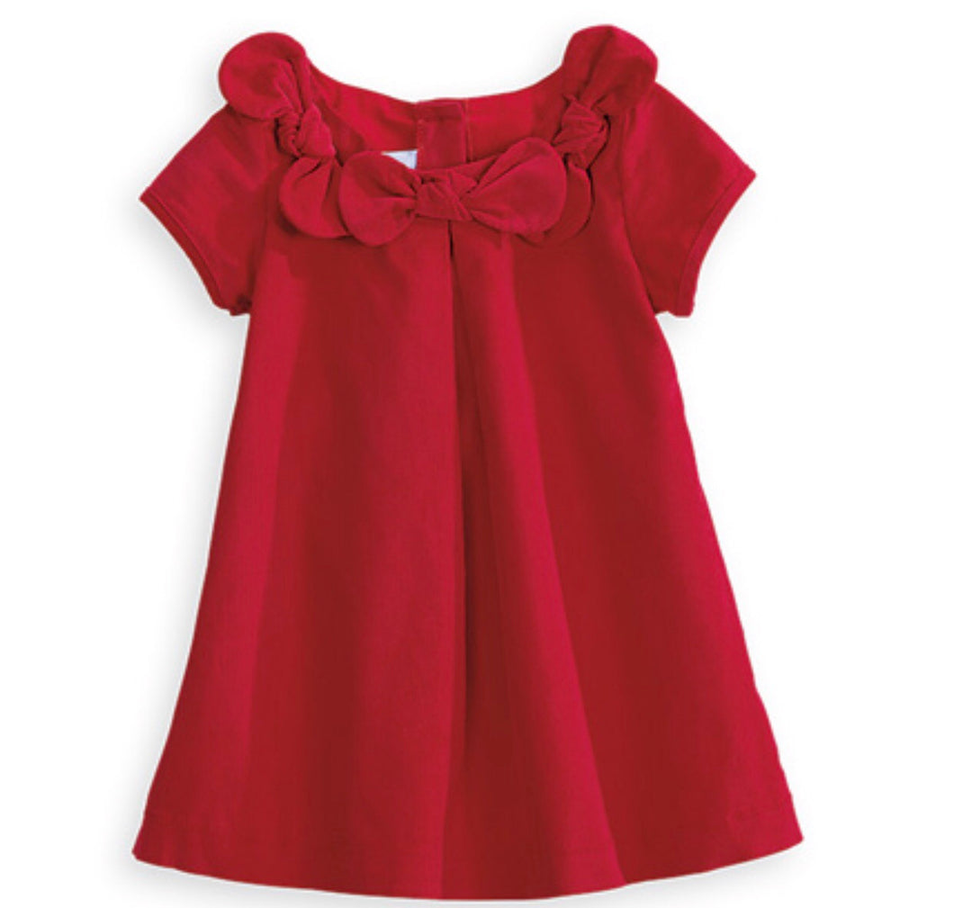 Everly Dress - Red Cord