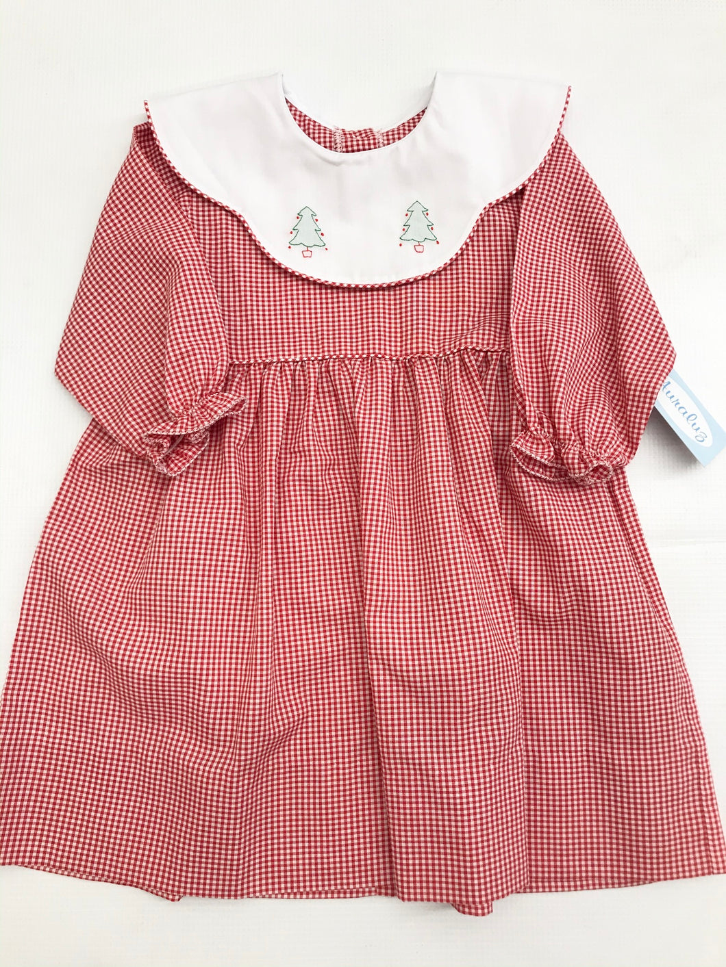 Red Check Tree Dress