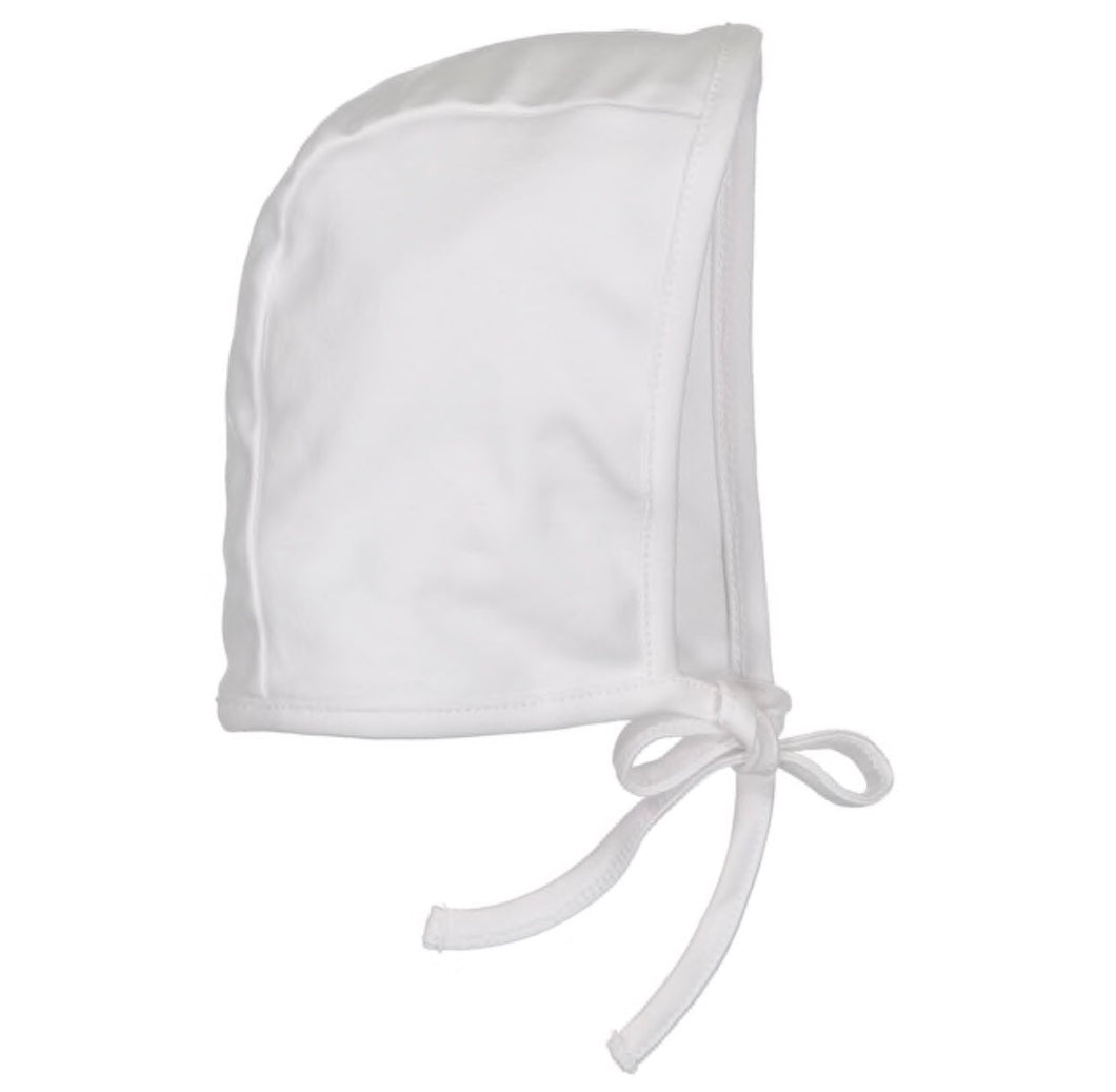 Pima Cotton Bonnet - White