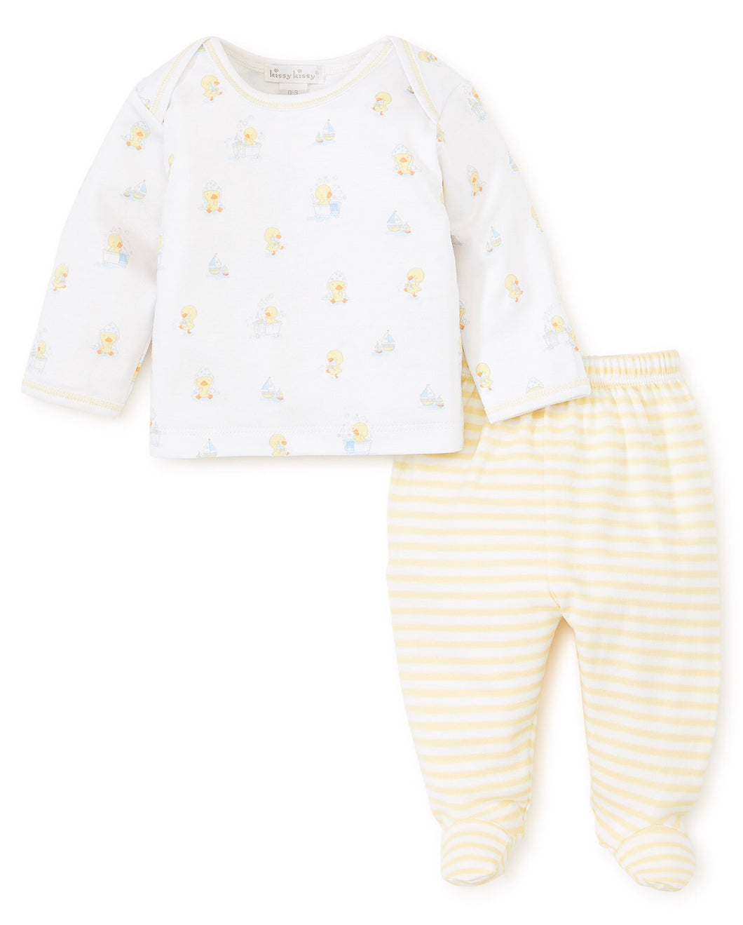 Yellow Ducks Footed Pant Set