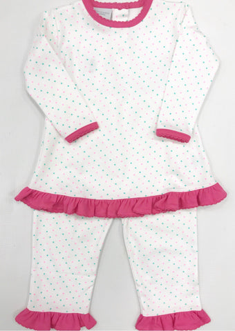 Pink/Mint Dot Pant Set