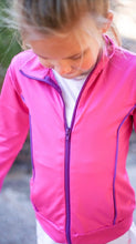 Juliet Dry Fit Jacket-Fuchsia