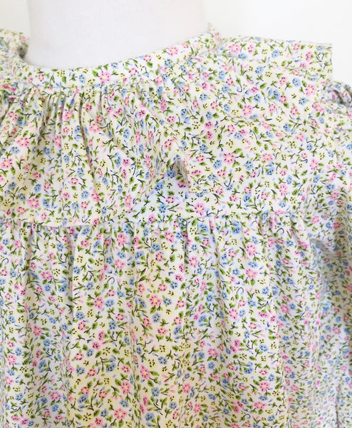 Katherine Floral Top with Pink Bloomer