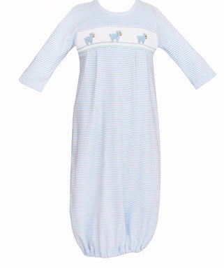 Light Blue Stripe Baby Lambs Sac
