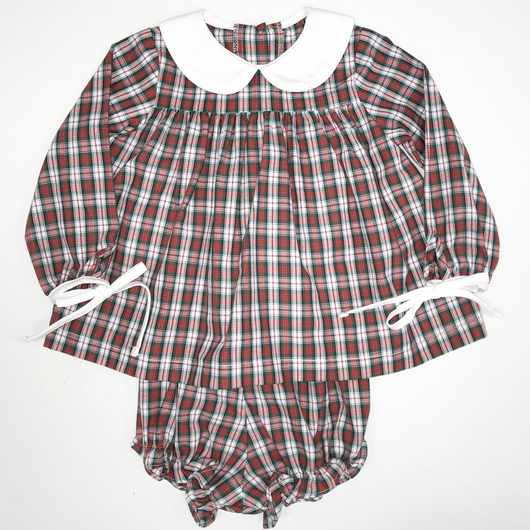 MaryAnn Girl Set - Red Plaid