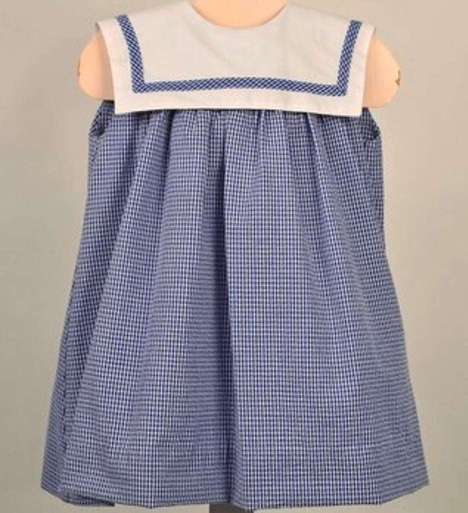 Sailor Dress - Navy Seersucker