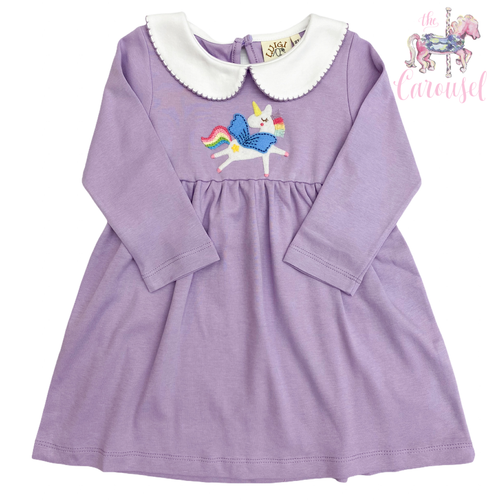 Knit Lavender Unicorn Dress
