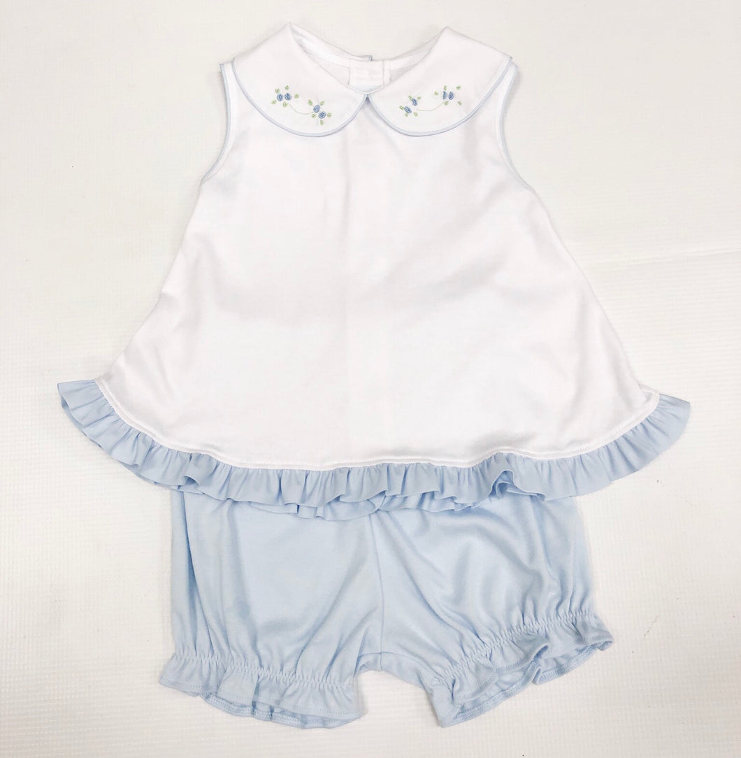 Blue/White Tiny Bud Bloomer Set