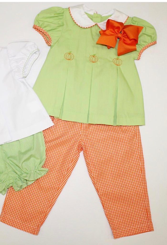 Girl Pumpkin Pant Set