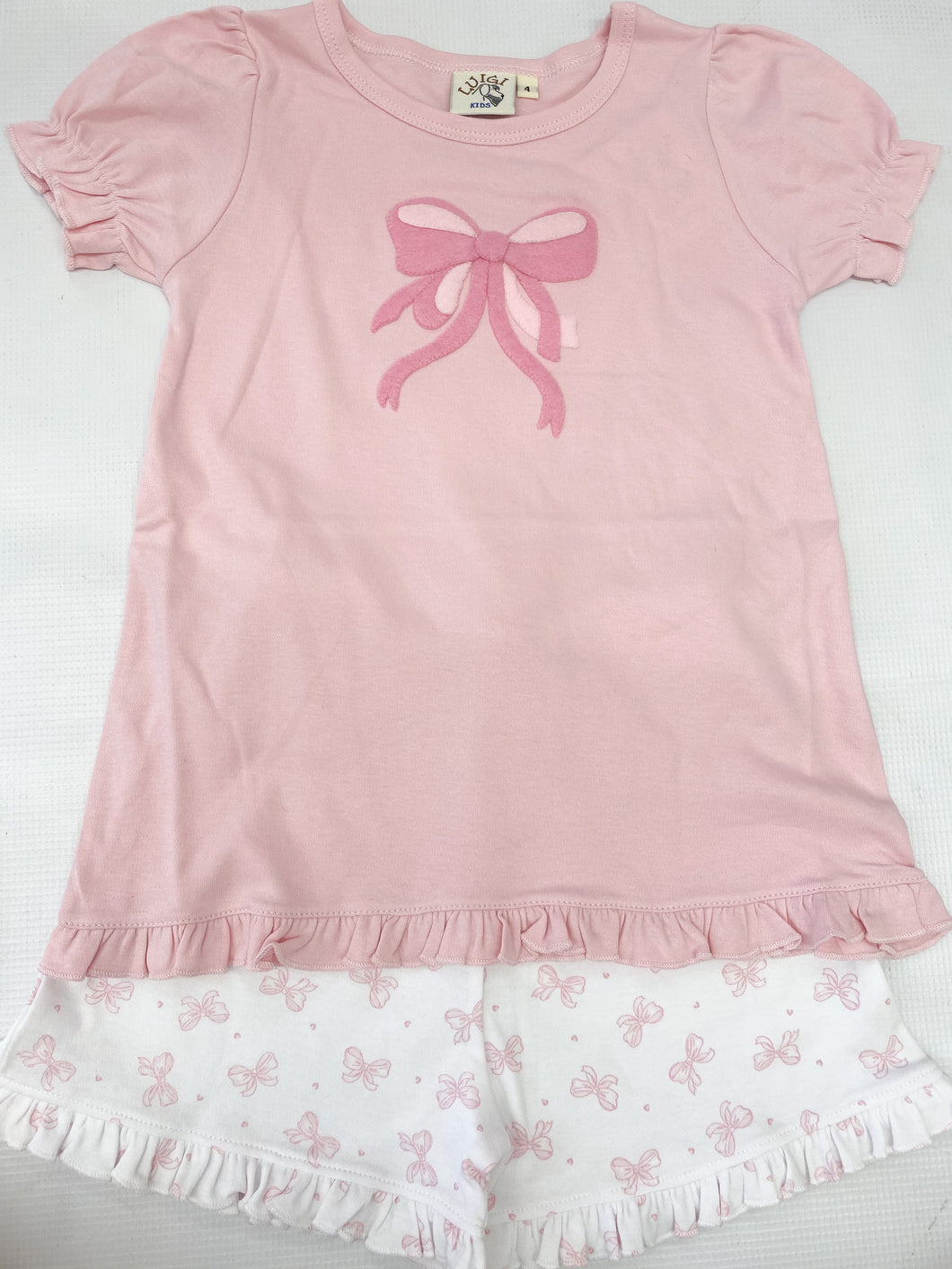 Pink Bow Short Set