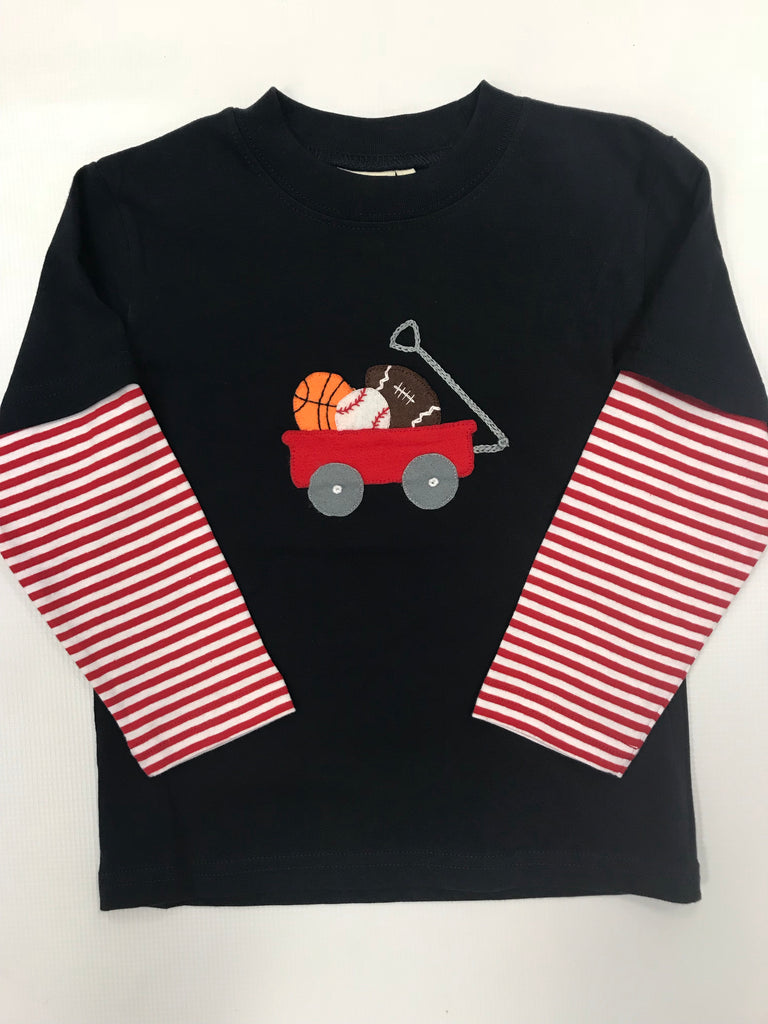 Sports Wagon Applique Tee