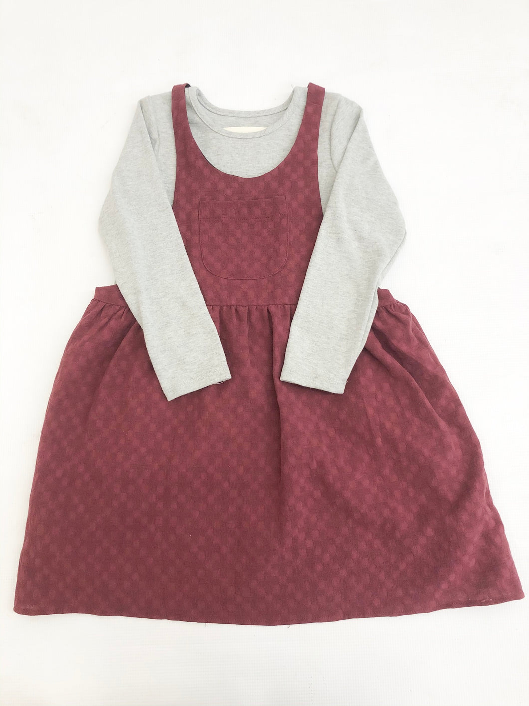 Colors of the Wind Dress Set- Burgundy