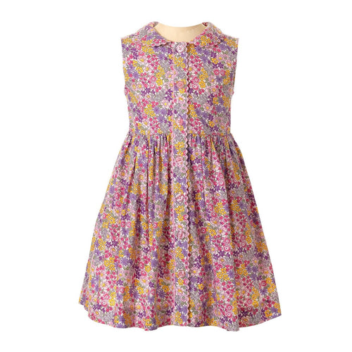 Summer Floral Button Front Dress