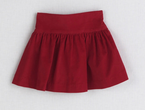 Yoke Skirt-Red