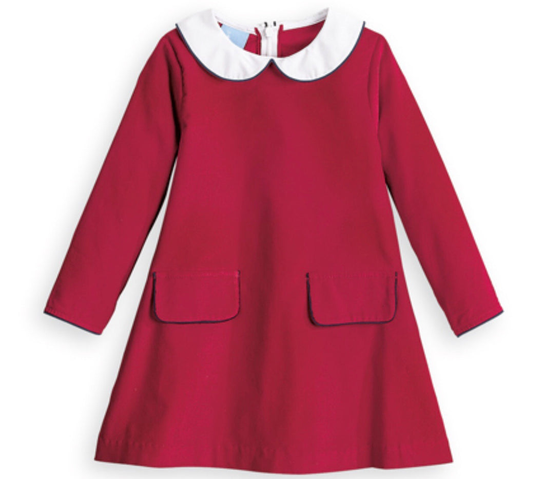 Madeline Dress - Red w/ Blue