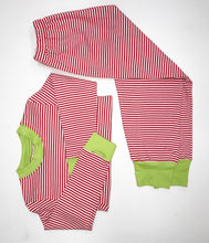 Red/Green Squiggles Pant Set