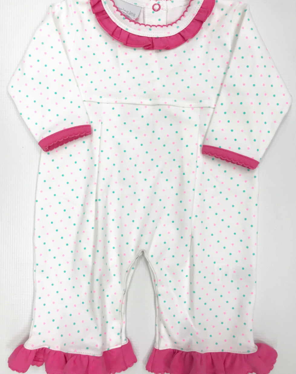 Pink/Mint Dot Romper