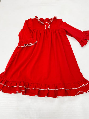 Red Christmas Morning Gown