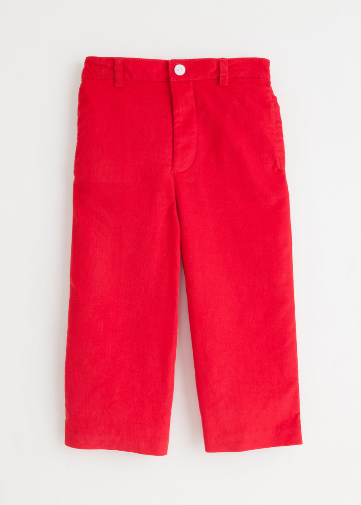Red Pull On Pant