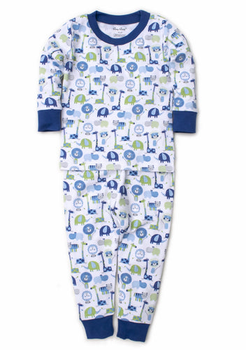 Blue Jazzy Jungle Pajama Set