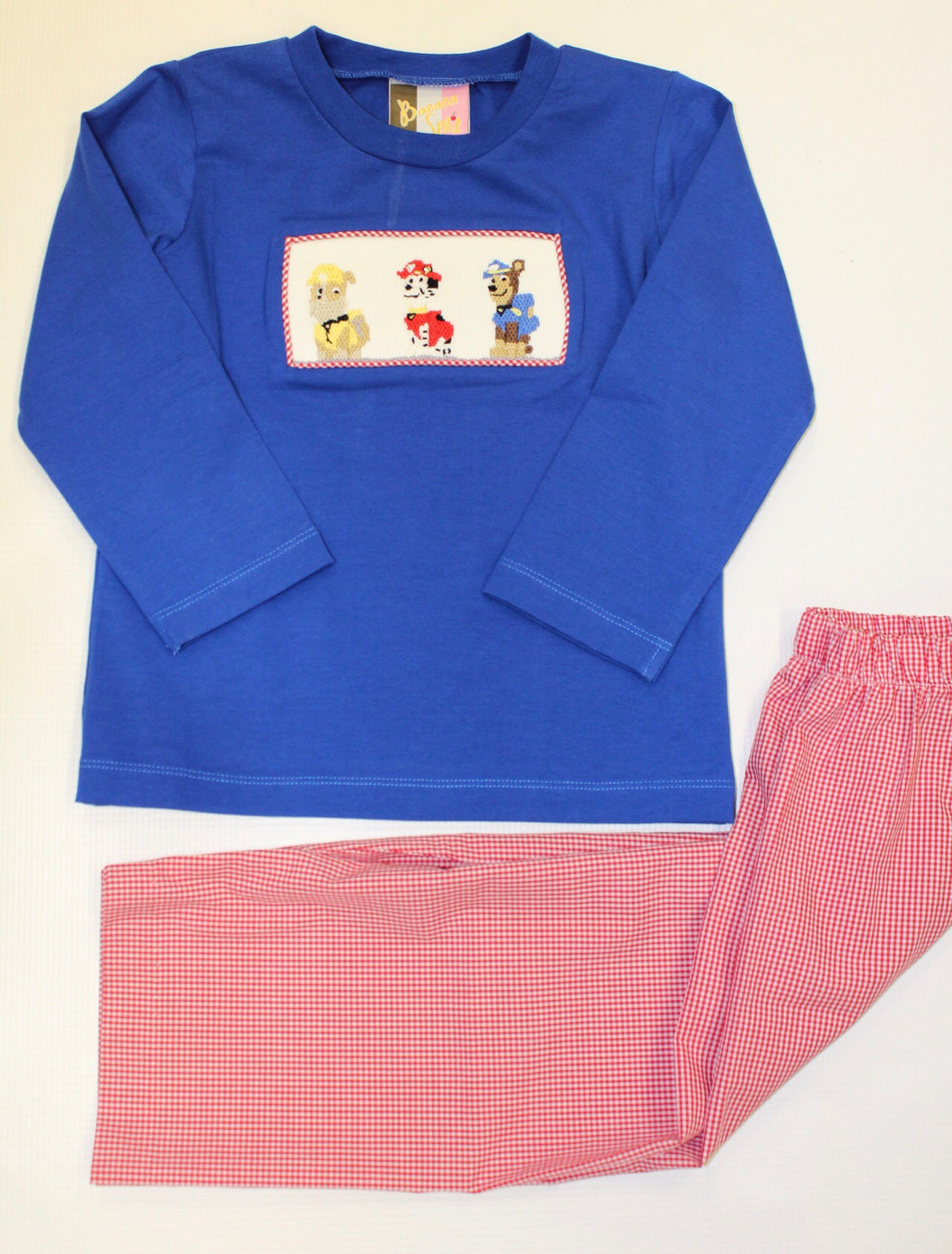Puppy Power Smocked Boys Set