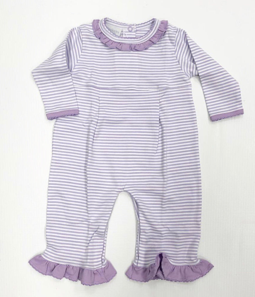 Purple Stripe Girl Romper