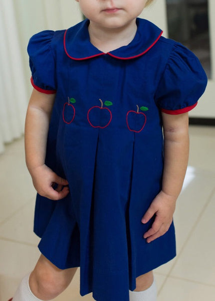 Embroidered Apple Dress