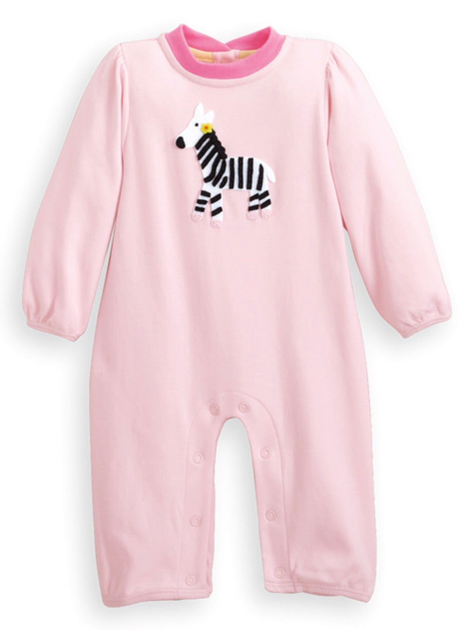 Girls Zebra Appliqué Longall