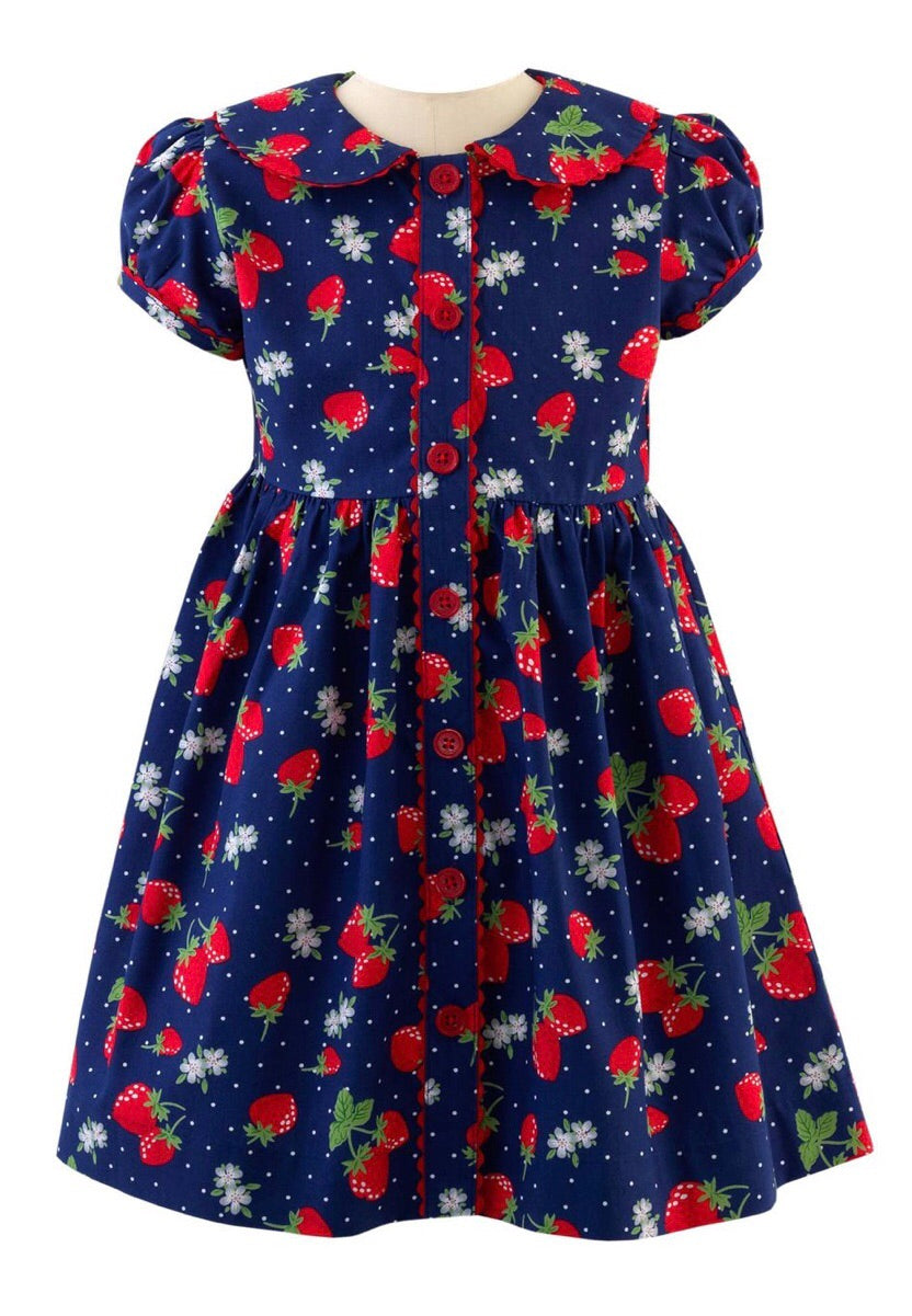 Strawberry ButtonFront Dress