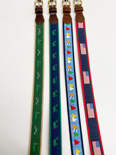 Lt Blue Rainbow Sailboat Belt
