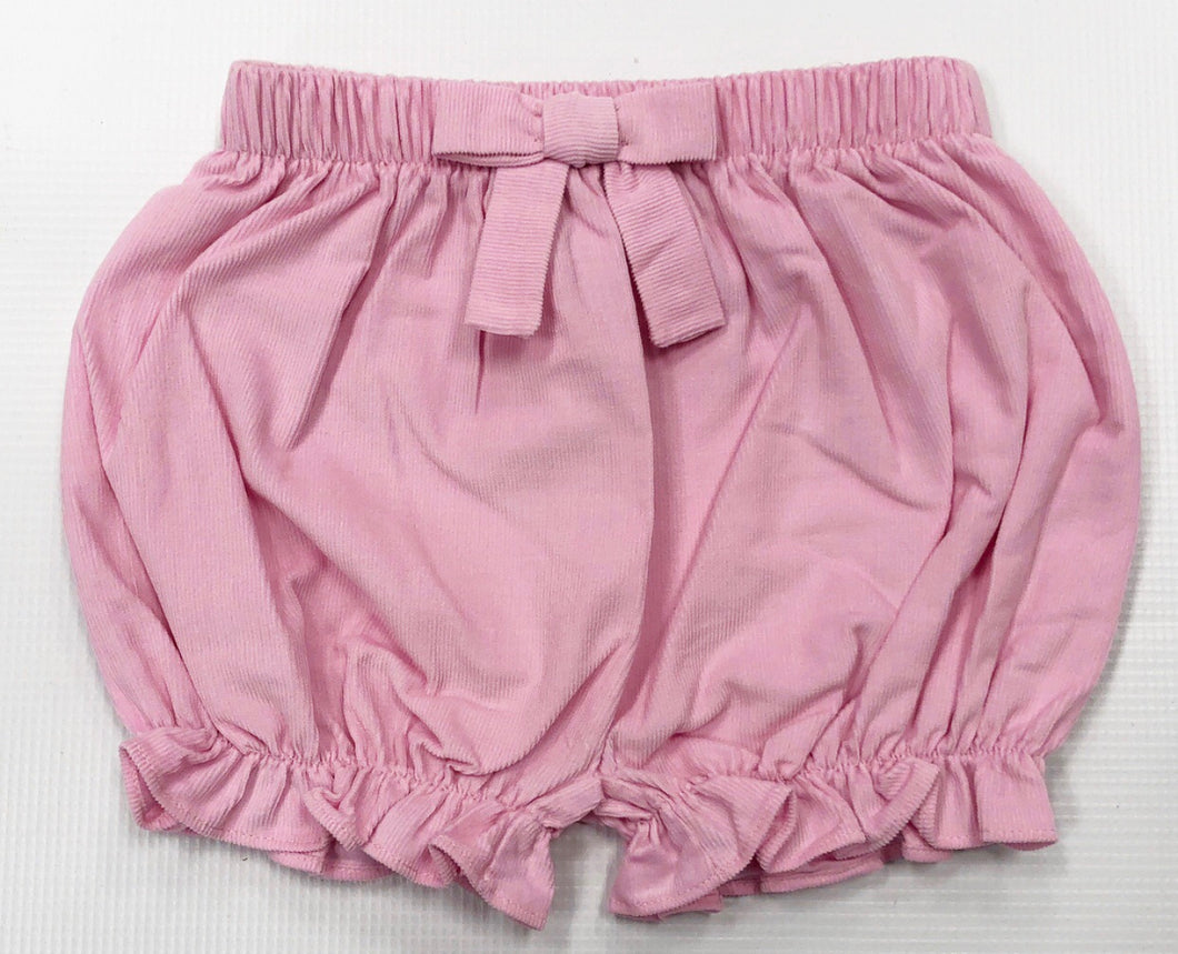 Pink Corduroy Bow Bloomers