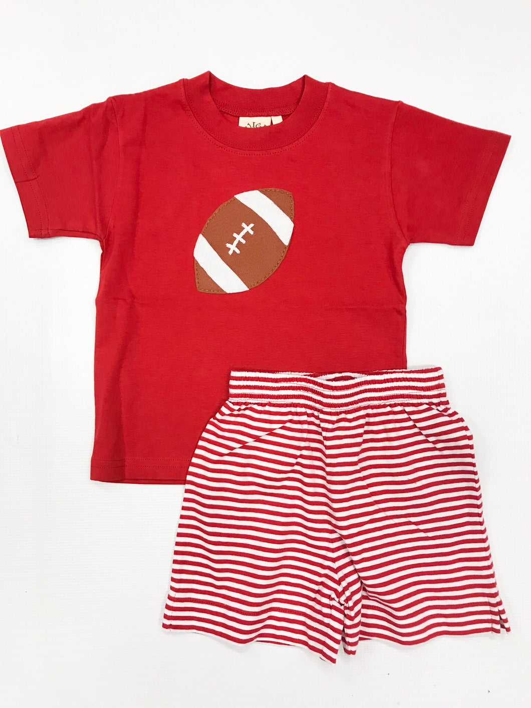 Deep Red Stripe Jersey Short