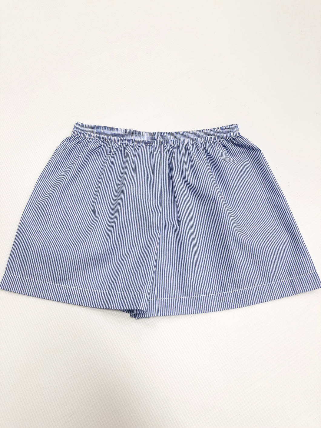 Blue & White Striped Short