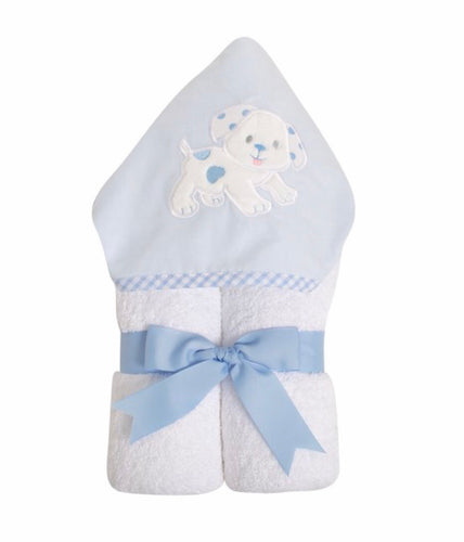 Blue Puppy Everykid Towel w/ Applique