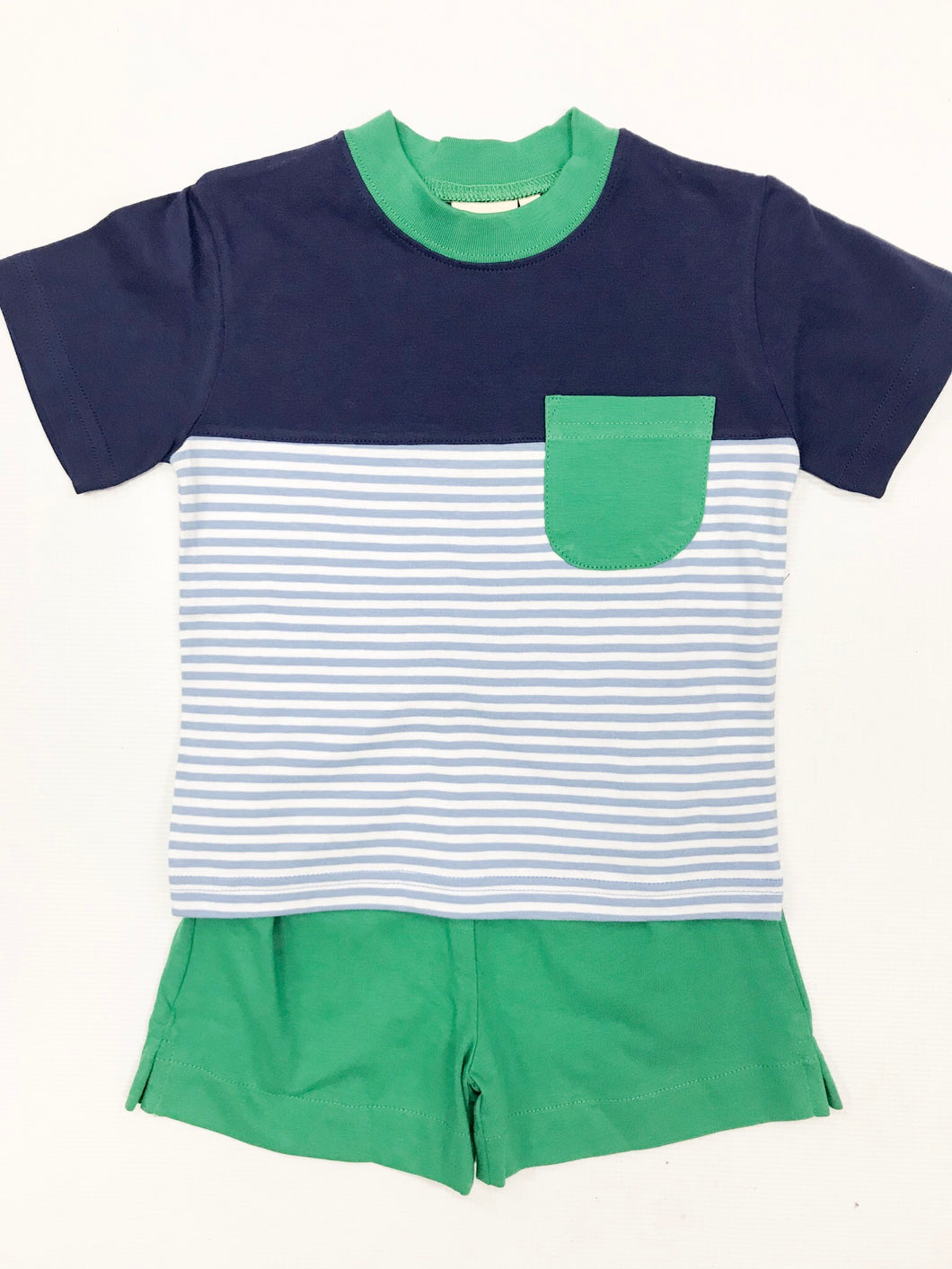 Green/Royal Pocket Short Set