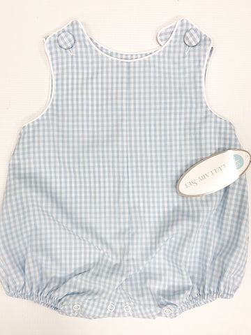 Light Blue Gingham w White Piping Bubble