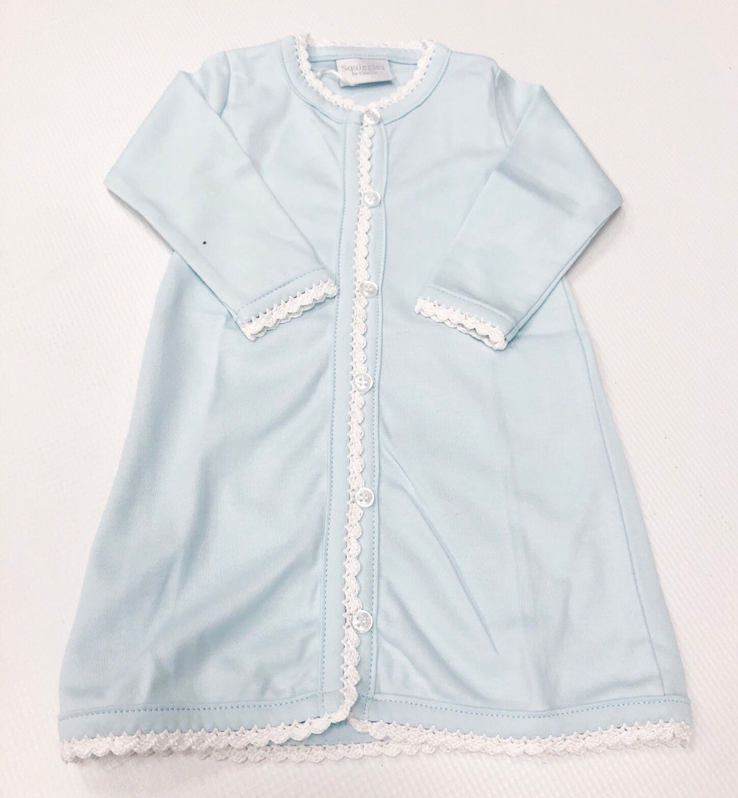 Blue/White Squiggles Daygown