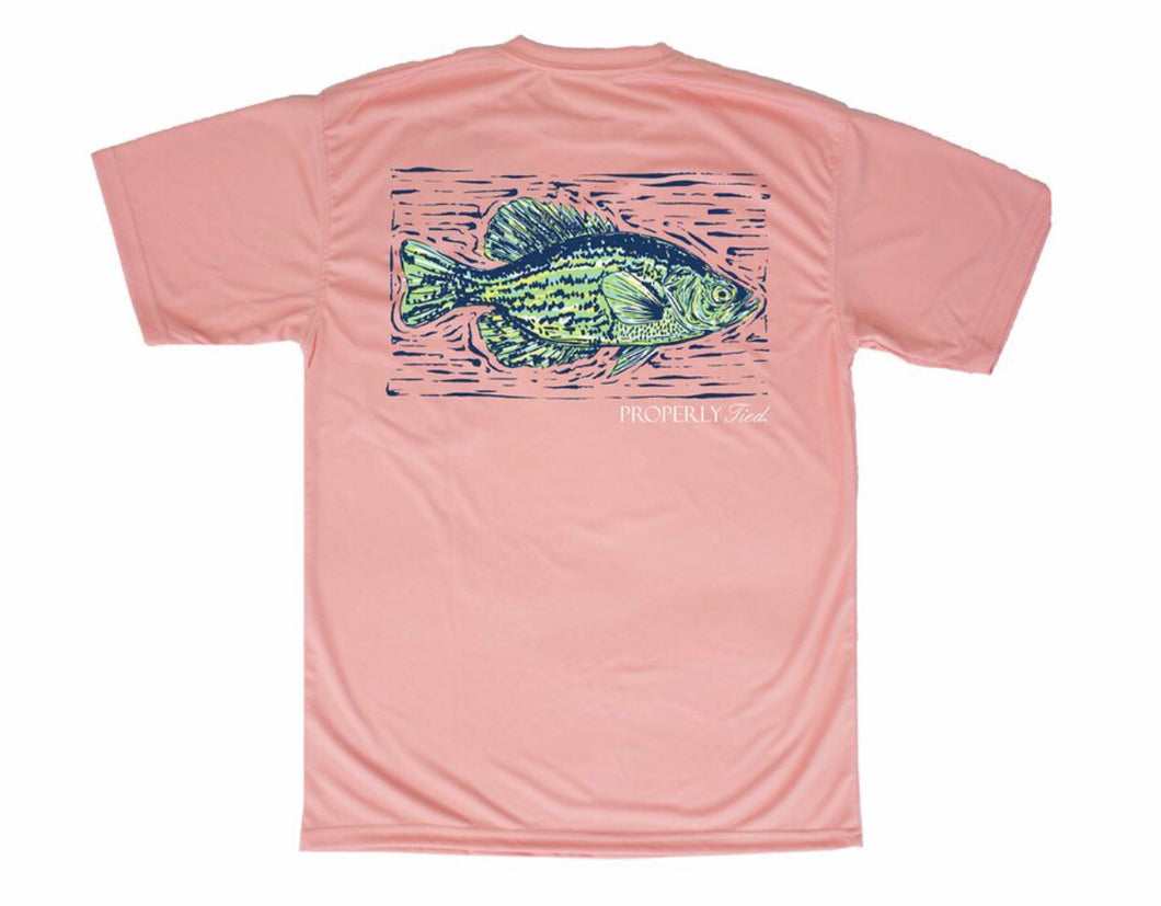 Short Sleeve Performance Tee - Crappie Melon