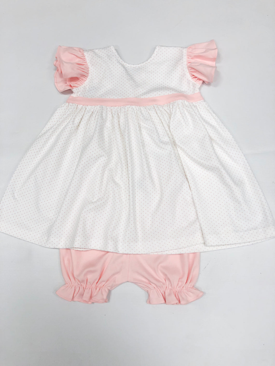 Pink Bitty Dot Sundress w/ Bloomer