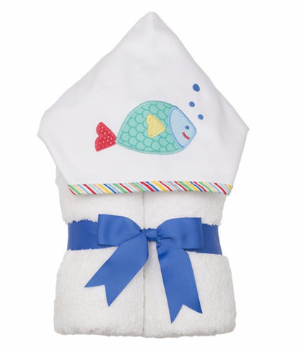 Blue Fish Everykid Towel w/ Applique