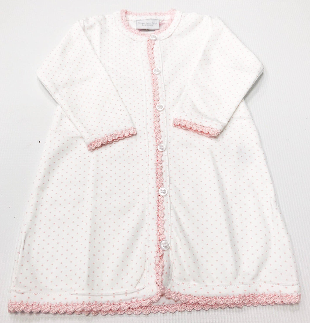 Pink Bitty Dot Squiggles Daygown