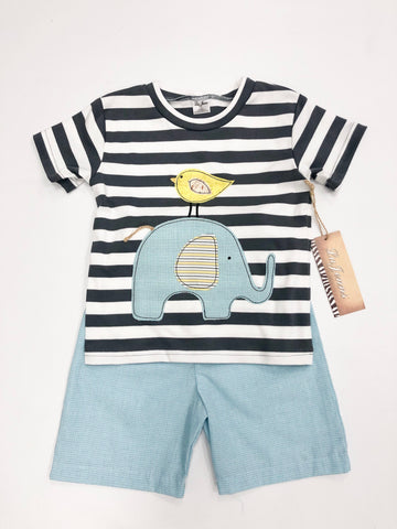 Elephant/Bird Short Set