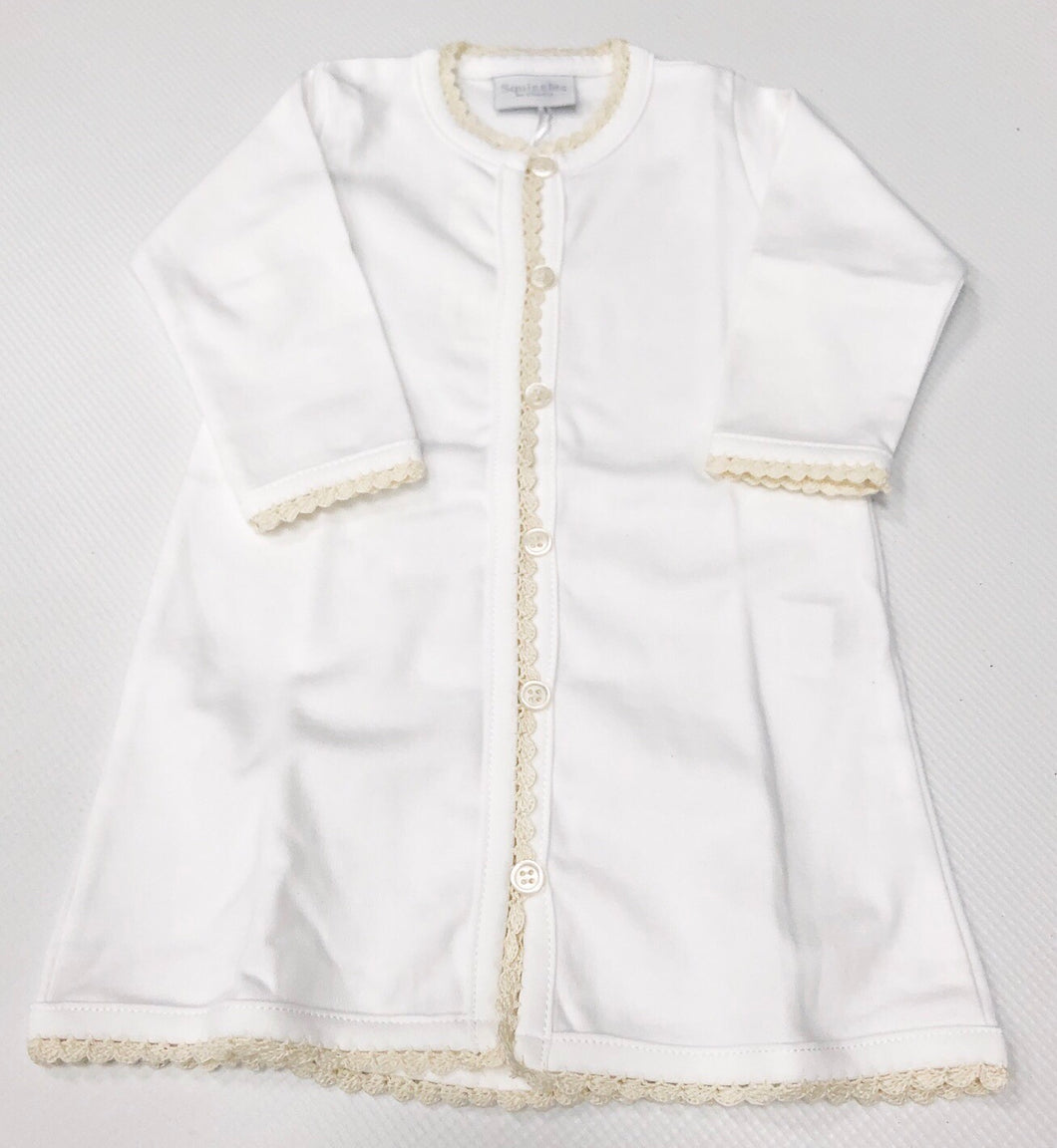 White/Ecru Squiggles Daygown